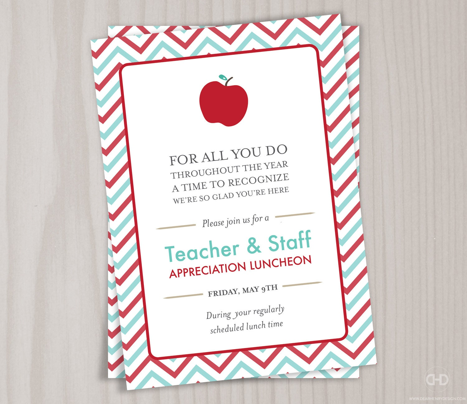 Teacher appreciation invitation printable teacher thank you zoom stopboris Choice Image