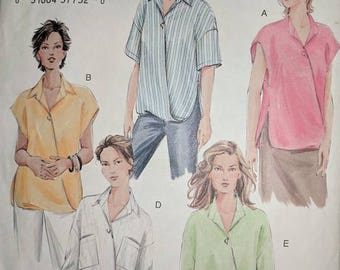 V7853, Sewing Pattern, Blouse Pattern, Out of Print, Sizes 20-24
