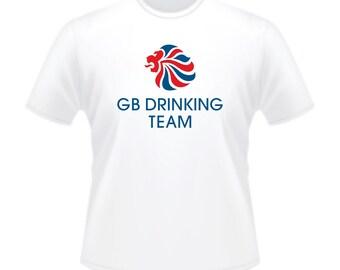 Olympics GB Drinking Team Stag T-Shirt