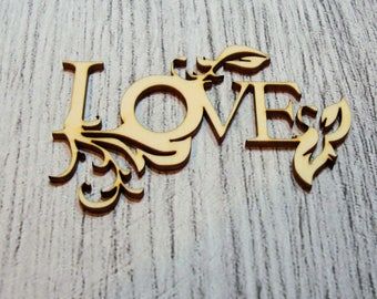 Love 1056 a cut out of wood for your cards