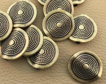 Round Brass Focal Bead