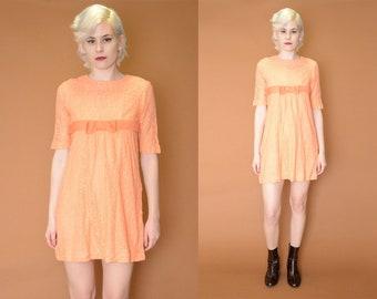 Orange You Glad 60s Party Dress