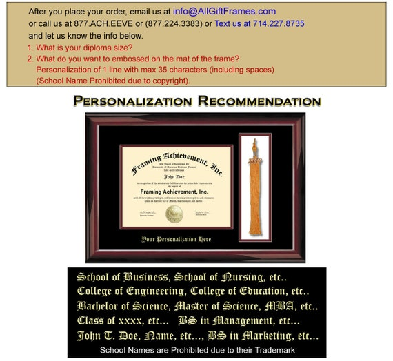 University Tassel Graduation Diploma Frame College Gift Graduate Top ...