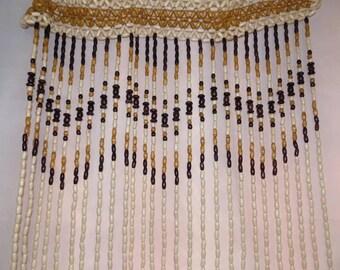 Wooden beaded curtain door or room divider d394