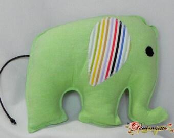 Elephant, animal fabric for decoration, handmade