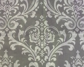 Tie up valance in brown, navy, grey or black or pink damask