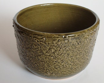 Item 116b Olive Bowl with Textured Sides