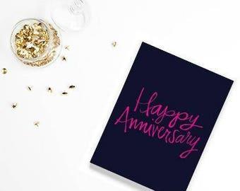 Happy Anniversary Greeting Card Gift for Wife Husband Girlfriend Boyfriend