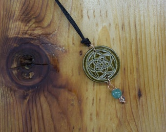 Empowerment Pendants - Hope, empowerment pendant, stoneware pendant,