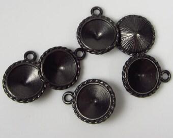 6 Tierracast Black Oxide Twisted Rivoli Frames
