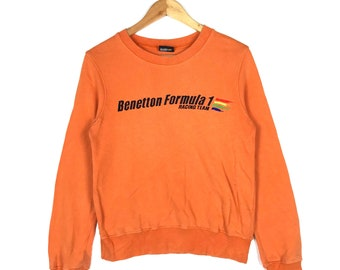 Rare! Vintage Benetton Formula 1 Racing Team Sweatshirt Small Size