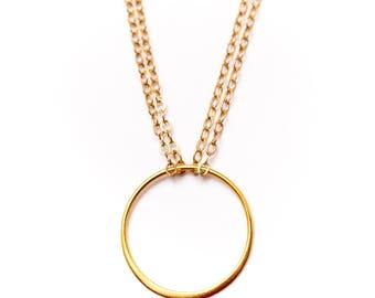 Paris Delicate Circle Necklace