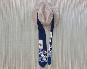 DISNEY Tie MICKEY MOUSE Polo Necktie Limited Edition of 3600 Ties Copyrighted Art Collection Atlas Design 100% Silk - Oahu Lew's Shirt Shack