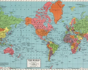 World map printable digital downloadntage world map old world map printable digital downloadntage world map map high resolution vintage gumiabroncs Image collections
