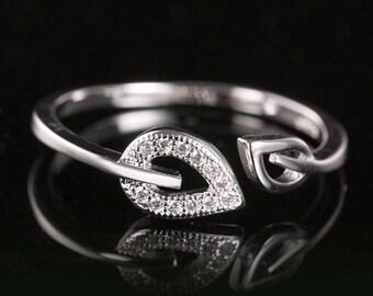 Crystal Leaf Toe Ring