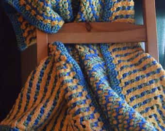 PDF Pattern - Ziggy Zaggy Love baby blanket - Hand Crochet Reversible