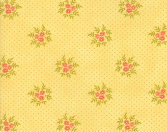 Ella & Ollie - Posies in Daisy by Fig Tree and Co for Moda Fabrics