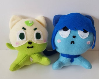 Steven Universe Peridot, Lapis, and Amethyst Cat Plush