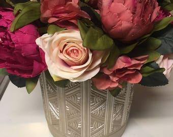 Luxury Mauve and Blush Peony Floral Arrangement