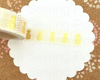 Foil Washi Tape: Gold Pineapples