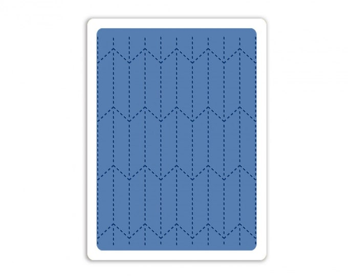New! Sizzix Tim Holtz Texture Fades Embossing Folder - Tailored