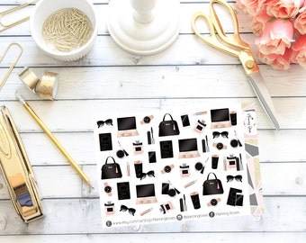 Chic Stationary Stickers || 42 Planner Stickers