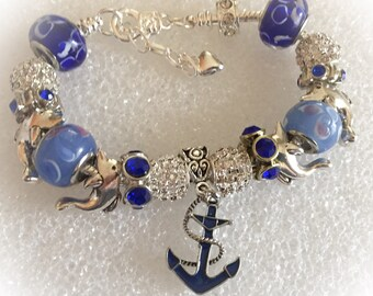 Nautical bracelet,  Beach necklace or Beach Bracelet, Birthday gift, nautical jewelry, beach jewelry,