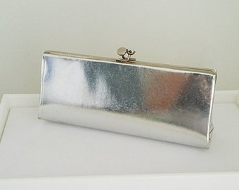Vintage Silver Shine 70's Style Clutch