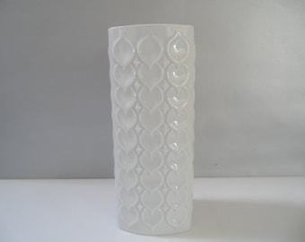 AK Kaiser german collectible white porcelain vase,hearts pattern vase,german Vintage porcelain vase,white collectible vase