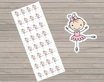 Planner Stickers 32 Ballerina Stickers Plum Paper