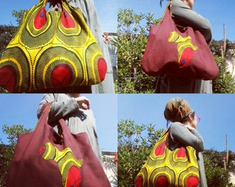 Reversible bag african reversible bag African wax double face