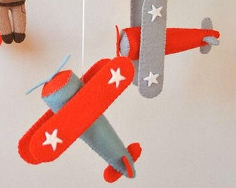 Felt airplane mobile pattern