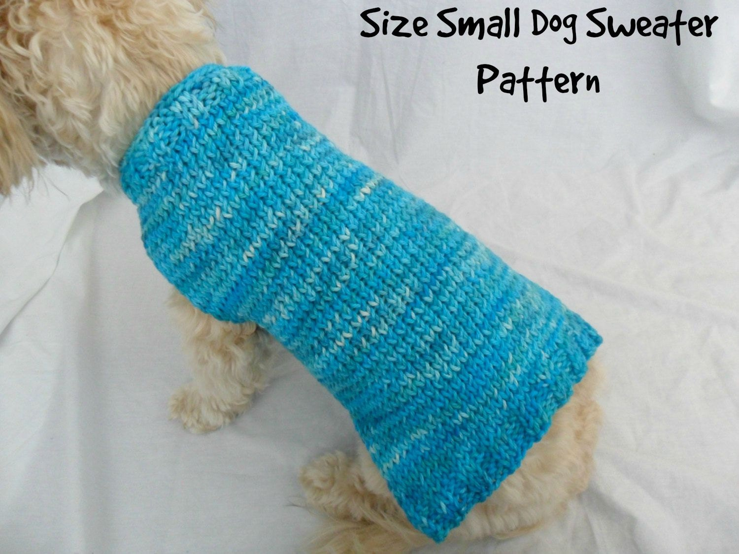 Simple dog sweater knitting pattern pdf small dog sweater zoom bankloansurffo Gallery