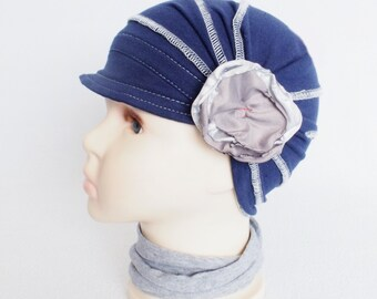 Kids cotton hat, Children hat, Chemo Hat, Girls Cancer hat, Kids hats, Summer Hat for girls with Hair Loss, Women Sun Hat, Alopecia cap