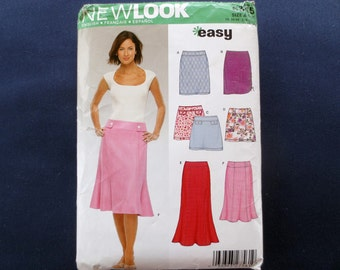 Easy Dropped Waist Skirt Pattern, New Look 6345, Size 6, 8, 10, 12, 14, 16