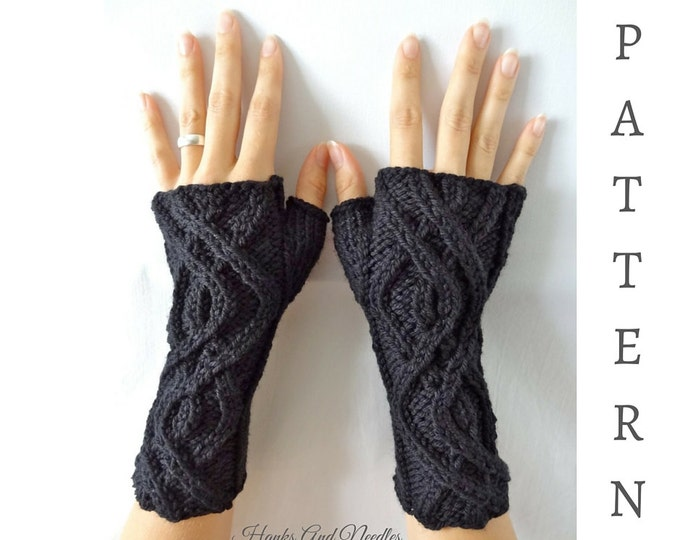 Winding Path Fingerless Glove Pattern