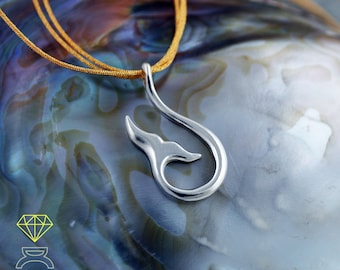 Silver  Pendant Whale tail, Whale Tail Necklace, Sea pendant, Sterling Silver Whale, Silver  Handcrafted pendant, Ocean jewelry