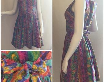 Colorful Print Wrap Dress