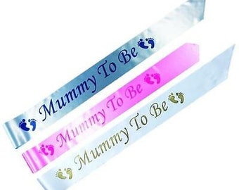 Mummy To Be Satin Baby Shower Party Sash