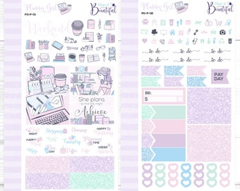 Planner Girl - Personal Weekly Kit - Removable Vinyl (Matte) - Planner Stickers