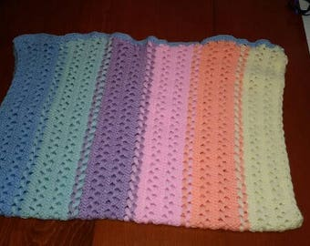 Rainbow Hairpin Lace Blanket