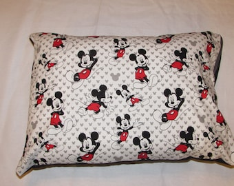 mickey mouse throw toddler or adult pillow