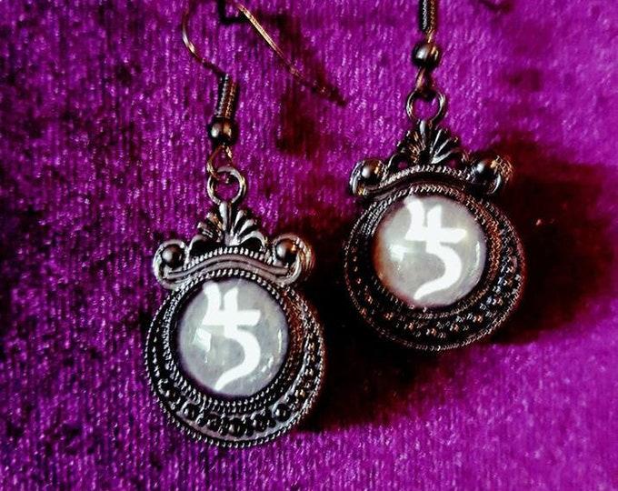 Sopor Aeternus Earrings & Necklace Set -  Jusa Sigil Sopor Aeternus Gothic Tradgoth jewellery
