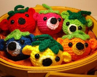 """Crochet """"Bearies."""" Toy bear balls."""