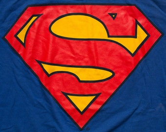 Superman Logo T-Shirt, Changes Brand, DC Comics, Vintage 90s, Graphic Tee, Comicbook Superhero Movie, Comic Book Hero