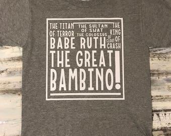 The Sandlot 'Great Bambino Shirt'