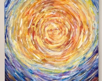 """Canvas Art - Abstract Painting - Swirl Painting - Colorful Painting - """"I wonder what He thinks"""""""