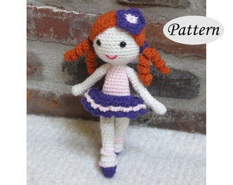 LITTLE BALLERINA - Amigurumi Pattern Crochet Doll Pattern - Ballet Dancing - Tutorial - PDF - Plush Doll