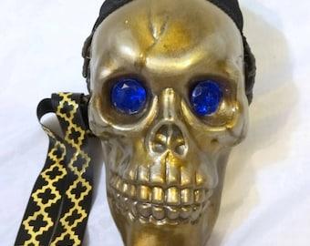 Sapphire Depths Skull Bag