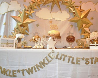 Twinkle Twinkle Little Star Banner | Baby Shower, Birthday Party, First Birthday